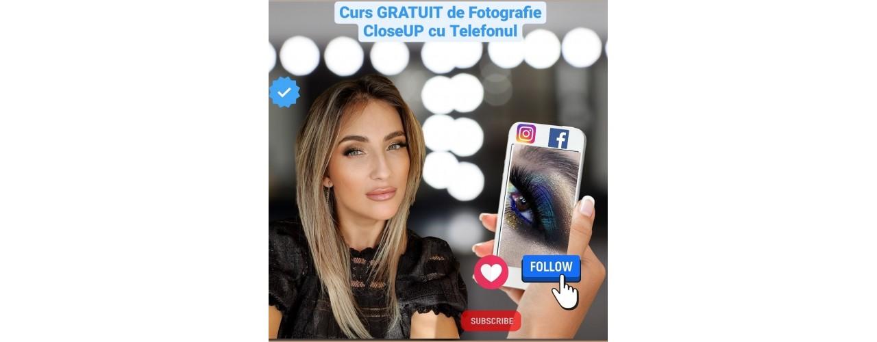 Surpriza de primavara – GRATUIT Lorena Vilcu Cioboata lanseaza cursul Fotografierea CloseUP a Ochiului cu Telefonul